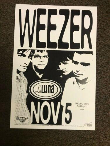 """Weezer 1996 La Luna Portland Pinkerton Tour Promo Poster 12""""x18"""""""