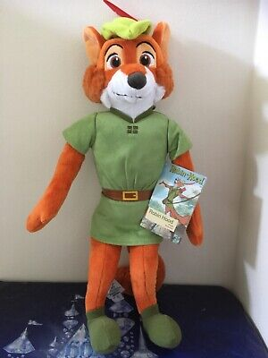 "DISNEY AUTHENTIC ROBIN HOOD 18"" SOFT PLUSH TOY BRAND NEW & TAG 🏷 & RARE"