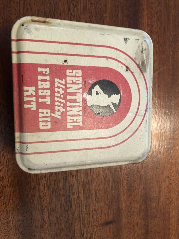 vintage sentinel Utility First Aid Kit With Original Contents