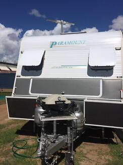PARAMOUNT DELTA Caravan 18ft Single Axle setup for Free Camping