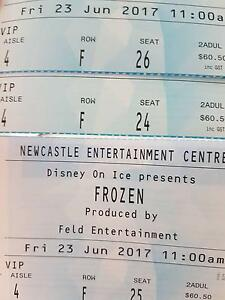 3 × Vip Disney on ice Frozen tickets 23 june 11am Newcastle Cessnock Cessnock Area Preview