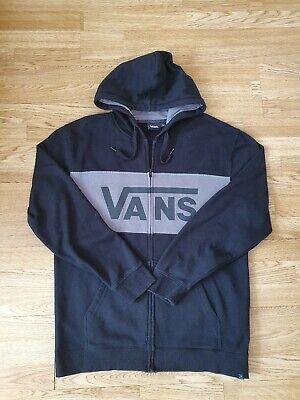 Vans Off the Wall full Classic Zip Hoodie Sweatshirt size Large UK in Black