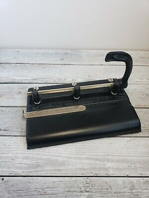 Steel 3 Hole Punch Vintage Master Products Mfg Co 325b Made In Usa