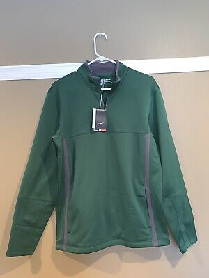 Mens Nike Golf Therma Fit Cover Up Gorge Green S Small MSRP -