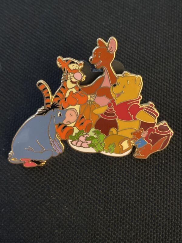 Jds Japan Disney Mall Pooh & Friends Picnic Pin LE 100 Kanga Roo Eeyore Tigger