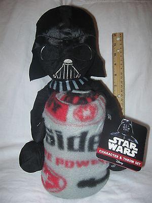 Disney Star Wars DARTH VADER Pal Plush Pillow & Fleece Throw