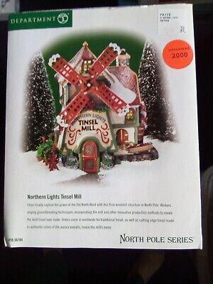 Dept 56 North Pole Series Northern Lights Tinsel Mill #56704 - NIB 56 North Pole Series