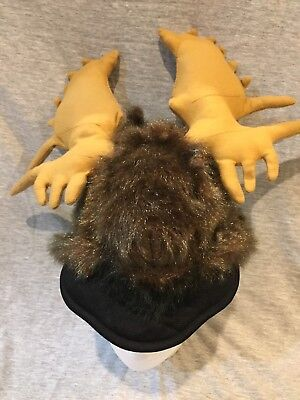 Plush Moose Antlers Animal Hunting Hat Cap Costume Halloween OS Bullwinkle  - Bullwinkle Costume