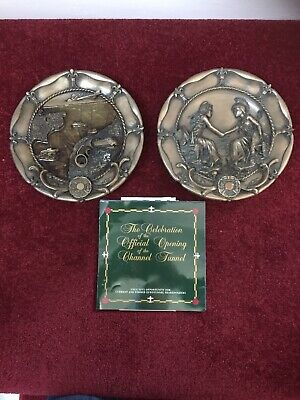 Vintage Wall Plaques - Opening Of The Channel Tunnel - Limited Edition