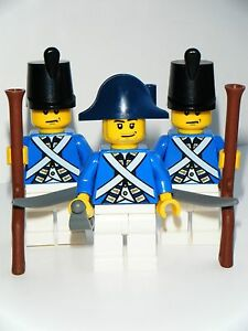 New Lego Custom Pirate Imperial Blue Coat Army Soldiers Minifigures Weapons