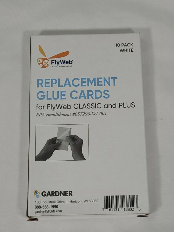 Fly Web Glue Board 10 Pack Long-lasting 1.76Ounces 1153 Flyweb Cards Insect Trap