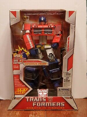 MIB 2004 TRANSFORMERS 20TH ANNIVERSARY G1 OPTIMUS PRIME MASTERPIECE DVD EDITION
