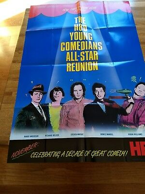1986 Young Comedians All-Star Reunion Poster HBO Williams Belzer Mandel Wright