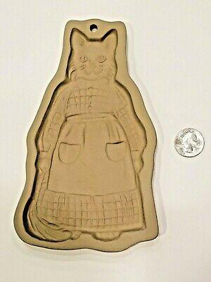 Brown Bag Cookie Art 1988 Hill Design Dressed Smiling Momma Cat Vintage Retired