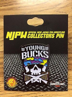 Young Bucks NJPW Official New Japan Pro-Wrestling Collectors Pin Bullet Club