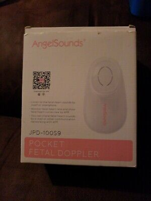 Angelsounds Pocket Fetal Doppler Unborn Baby Heartbeat Monitor