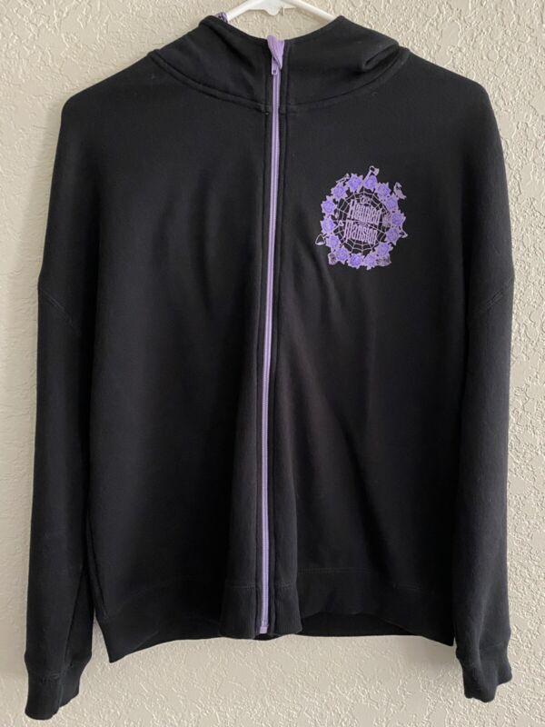 Disney Parks Haunted Mansion Sweatshirt Jacket Zipper Hooded  Size M