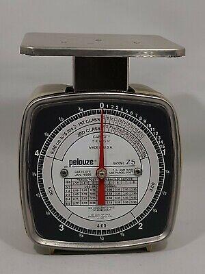 Pelouze Vintage Postal Scale Model Z5 1995 Capacity 5lb X 12oz.made In Usa