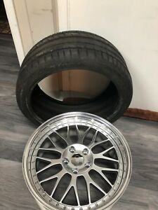 3Piece single wheel BrandNew rim and tire