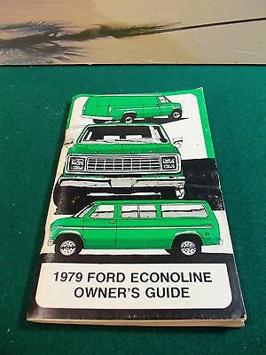 Genuine Car Truck Owners Manual   1979 Ford Econoline Owners Manual