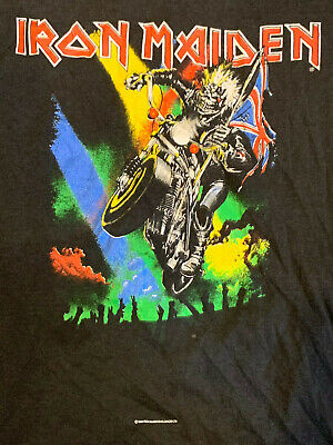 IRON MAIDEN t-shirt Vintage MAIDEN ENGLAND 1989 Motorcycle 7th Son Tour RARE