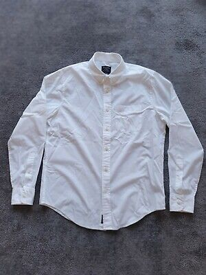 Mens White Abercrombie And Fitch Long Sleeve Shirt Large