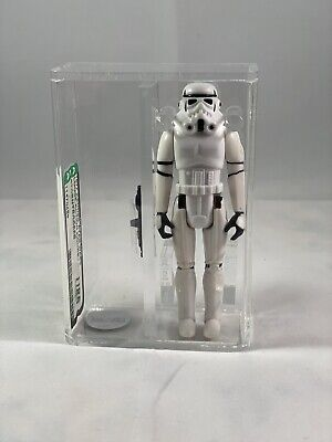 STAR WARS VINTAGE STORMTROOPER! AFA U85! NO COO! NR MINT! BEAUTIFULLY WHITE!