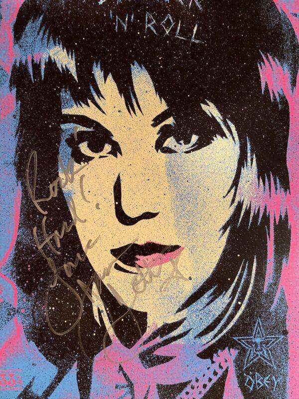 Joan Jett Signed Poster 12x18