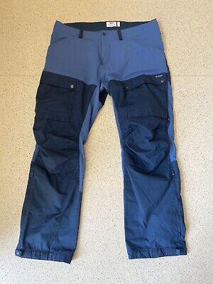 Fjallraven Size 58. Reg Length.  KEB TROUSERS, Dark Blue- . RRP£180