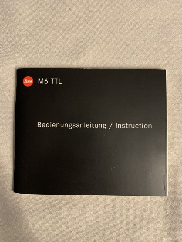Leica M6 TTL instruction manual in English Very Clean