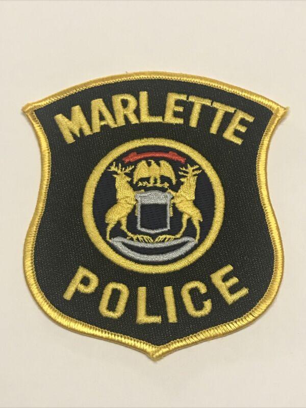 Marlette Michigan Police Dept Patch
