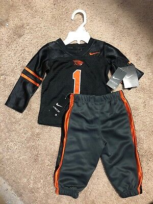 NIKE  TODDLER BABY OREGON ST FOOTBALL UNIFORM OUTFIT NEW 12M OR 18M