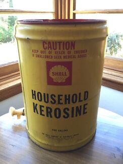 Vintage Shell Kerosine Tin - 5 Gallons Deakin South Canberra Preview