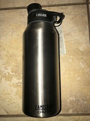 CamelBak Chute Vacuum Insulated Stainless Water Bottle 40oz All Silver Hot (Camelbak Chute 40oz Vacuum Insulated Stainless Water Bottle)
