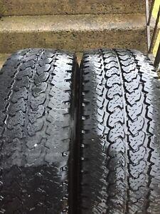 2 tires size LT265/70R17