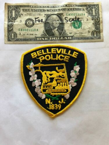 Belleville New Jersey Police Patch un-sewn in Great Shape
