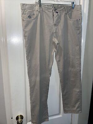 LUIGI BORRELLI Caracciolo 5 Pocket Trousers Size 38x31. Beige Color. Slim Fit.