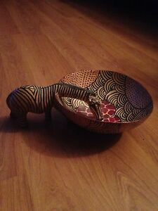 Wooden dish from Africa