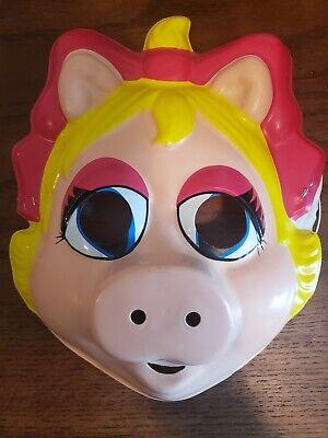 Miss Piggy Halloween Mask 1984 ~ Henson Vintage Ms. Piggy Costume USA ~ EUC