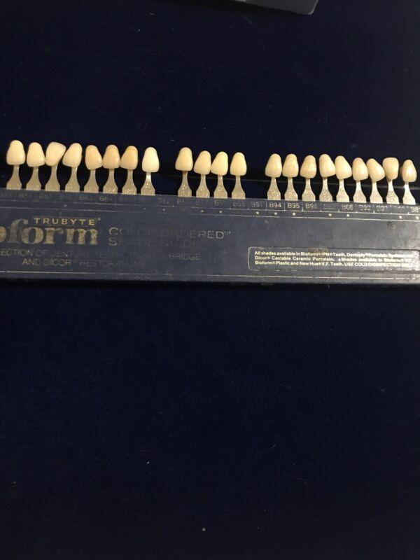 Dentsply Trubyte Bioform Color Ordered Dental Tooth Shade Guide Dental Lab