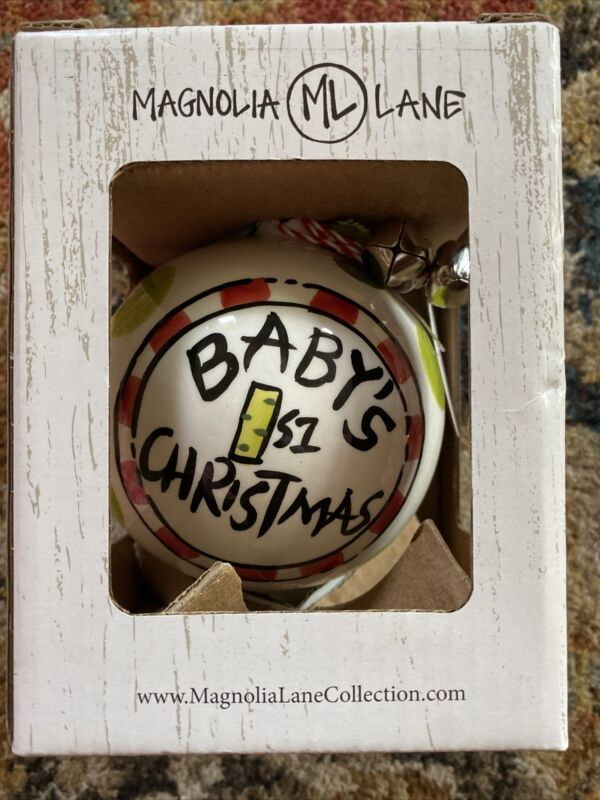 MAGNOLIA LANE COLLECTION BABY'S FIRST CHRISTMAS ORNAMENT NEW IN BOX BELLS!