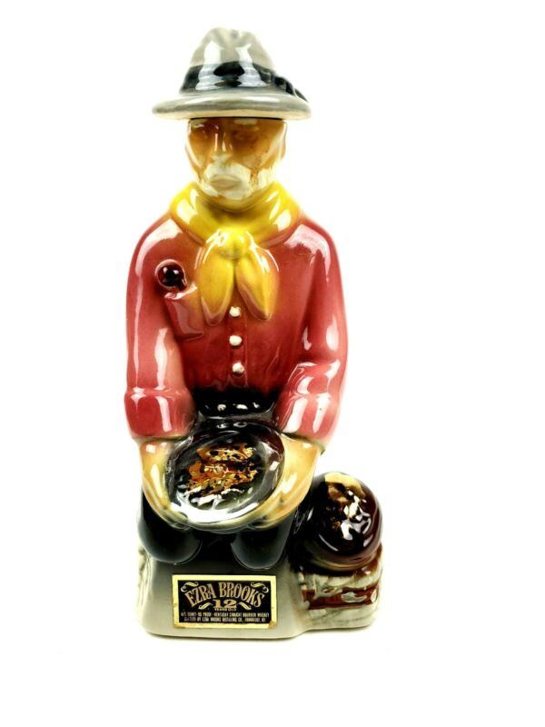 Ezra Brooks Collectible Gold Miner Bottle