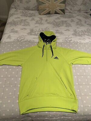 Mens Adidas - Neon Yellow Climalite Hoodie Medium