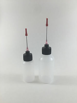 Plastic Squeeze Bottles 1oz 2oz 1.5 Applicators Liquid Flux Solder