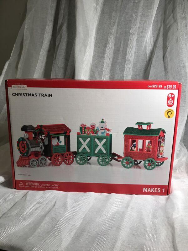Creatology Light Up Christmas Train, Christmas Holiday Craft Kit, Ages 6+