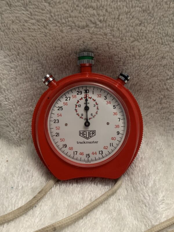 Vintage Tag Heuer Trackmaster Stop Watch Red Swiss