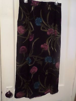 NWT Lane Bryant Size 14 Long Wrap Around Skirt button front floral print black