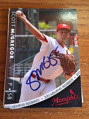Memphis Redbirds Scott Mcgregor Autograph Signed Auto Card