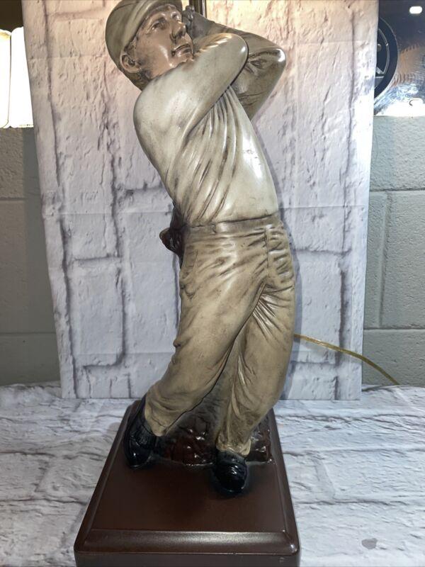 Allure Jan Graf 1996 Golfer Table Lamp
