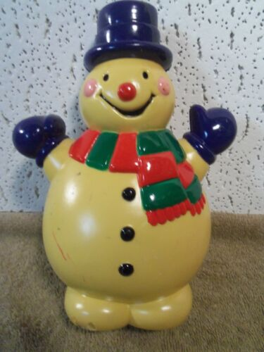 "Antique Celluloid Snowman 8"" Tall Frosty? 1"